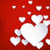 バレンタインデーの背景のための心。eps 10 — ストックベクタ
