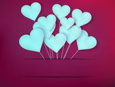 Valentines Day Heart Balloons. EPS 10 — Stock Vector