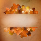 Autumn card of colored leafs. EPS 10 — Stock vektor