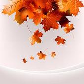 Flying autumn leaves background. EPS 10 — Stock Vector