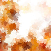 Autumnal leaf of maple and sunlight. EPS 10 — Vector de stock