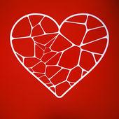 Wyłącznik papierowa karta z serca. eps 10 — Wektor stockowy