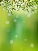 Été dans la forêt, abstrait naturel. Eps 10 — Vecteur