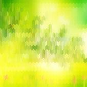 Gröna suddig bakgrund och solljus. eps 10 — Stockvektor