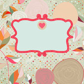 Vintage style background with flowers. EPS 8 — Cтоковый вектор