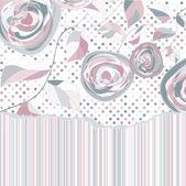 Floral de roses vintage romantique. eps 8 — Vecteur
