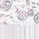 Romantico floreale con rose d'epoca. eps 8 — Vettoriale Stock