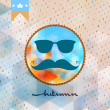 Autumn hipster style Mustache and Glasses. EPS 10 — Stock Vector #48444385