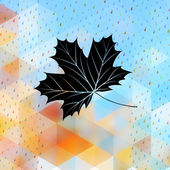 Geometric background card with maple leaf. EPS 10 — Stockvector