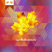 Autumn abstract geometric background. EPS 10 — 图库矢量图片
