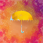 Umbrella and rain drops. EPS 10 — Stock Vector