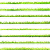 8 item set, small Grass. EPS 10 — Stock Vector