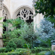 Stock Photo: Garden inside a church in Toledo