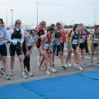 Group of women at the starting line of a race — Stock Photo