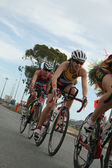 Women triathletes in bike — Stock Photo