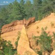 Ocher rocks near Roussillon (Provence, Southern France) — Stockfoto