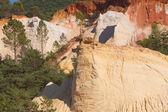 Ocher rocks (French Colorado) near Rustrel (Provence, Southern F — Photo