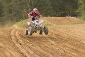 Quad rider on the track — Foto Stock