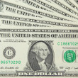 Background with money US 1 dollar bills — Stock Photo