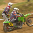 Dynamic shot of sidecar racers — Stock Photo