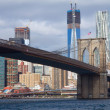 Brooklyn bridge under repair - Stock Photo