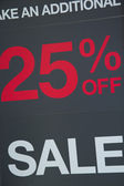 25 percent off sale — Stock Photo