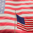 American flag on the mast — Foto Stock
