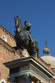 Statue of Bartolomeo Colleoni in Venice (Italy) — Stock Photo