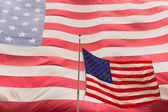 American flag on the mast — Stock Photo