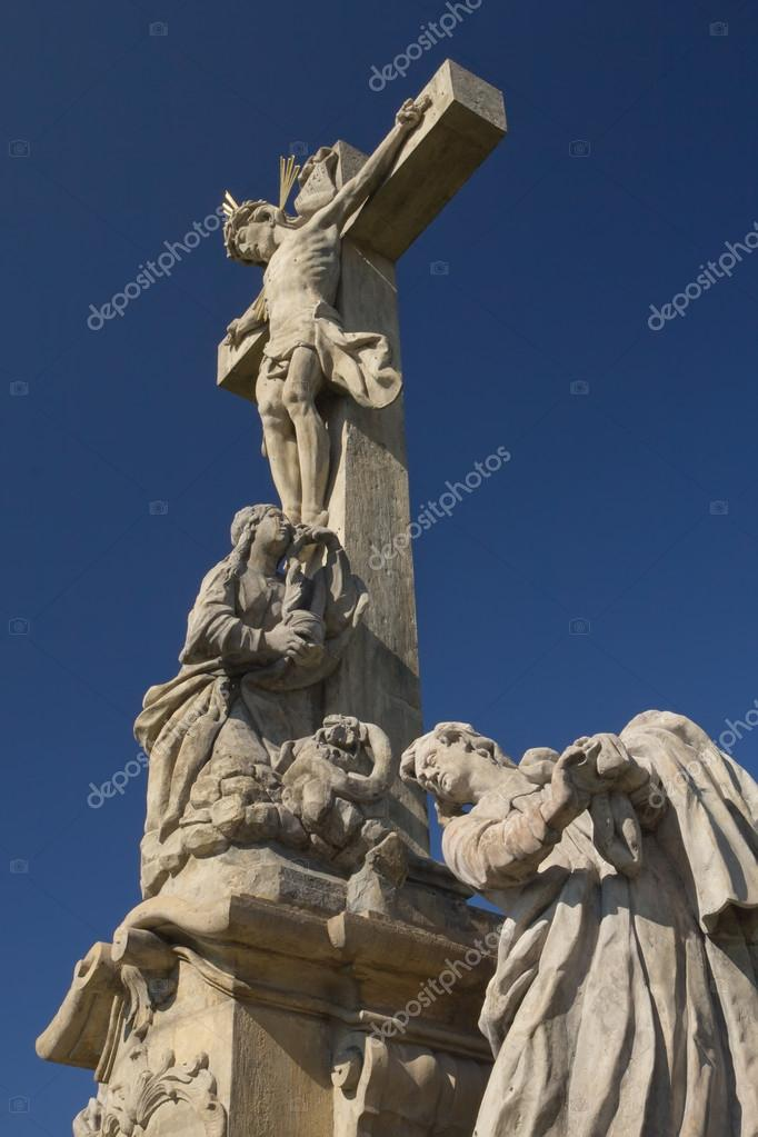 Detailed view of the statue of Jesus Christ on a cross (near village, Ruda, Czech Republic) — Stock Photo #13788341