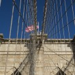 Stock Photo: Brooklyn Bridge Pillar