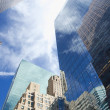 View of Manhattan skyscrapers - Stock Photo
