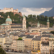 Stock Photo: Salzburg at sunset