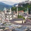 Royalty-Free Stock Photo: Salzburg with Hohensalzburg fortress.