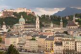 Salzburg at sunset — Stock Photo