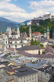 Salzburg with Hohensalzburg fortress. — Stock Photo