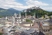 Salzburg with Hohensalzburg fortress — Stock Photo