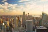 View of Manhattan in sunset light — Stock Photo