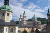 Churches and Cathedral in Salzburg — 图库照片