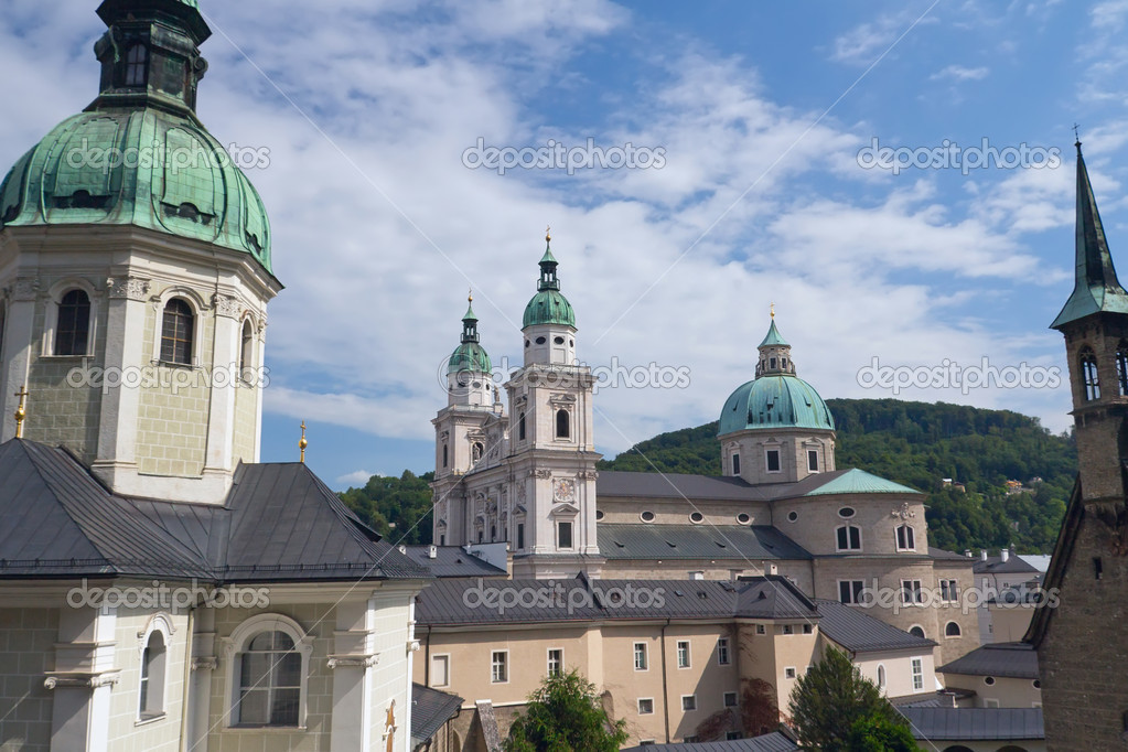 Churches and Cathedral in Salzburg (Austria, Europe)  Stock Photo #16233227