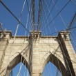 Brooklyn Bridge pillar. Horizontally. — Stock Photo