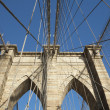 Brooklyn Bridge pillar. Horizontally. — Stock Photo #16879869