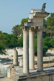 Ruins of Roman columns in Glanum (France) — Foto Stock
