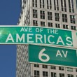 Stock Photo: Sign of Sixth Avenue in Manhatt(NYC, USA)