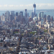 An aerial view of Manhattan with the Freedom Tower. — Stock Photo #17126655