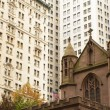 Trinity church in the New York City (USA) — Stock Photo