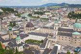 Luchtfoto van Salzburg (Oostenrijk) — Stockfoto