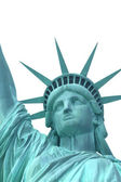 Head of Statue of Liberty. Isolated. (NYC) — Stock Photo