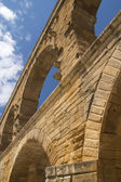 Pillars of the Pont du Gard in France — Stock Photo