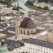 Aerial view of Salzburg (Austria) - Stock Photo